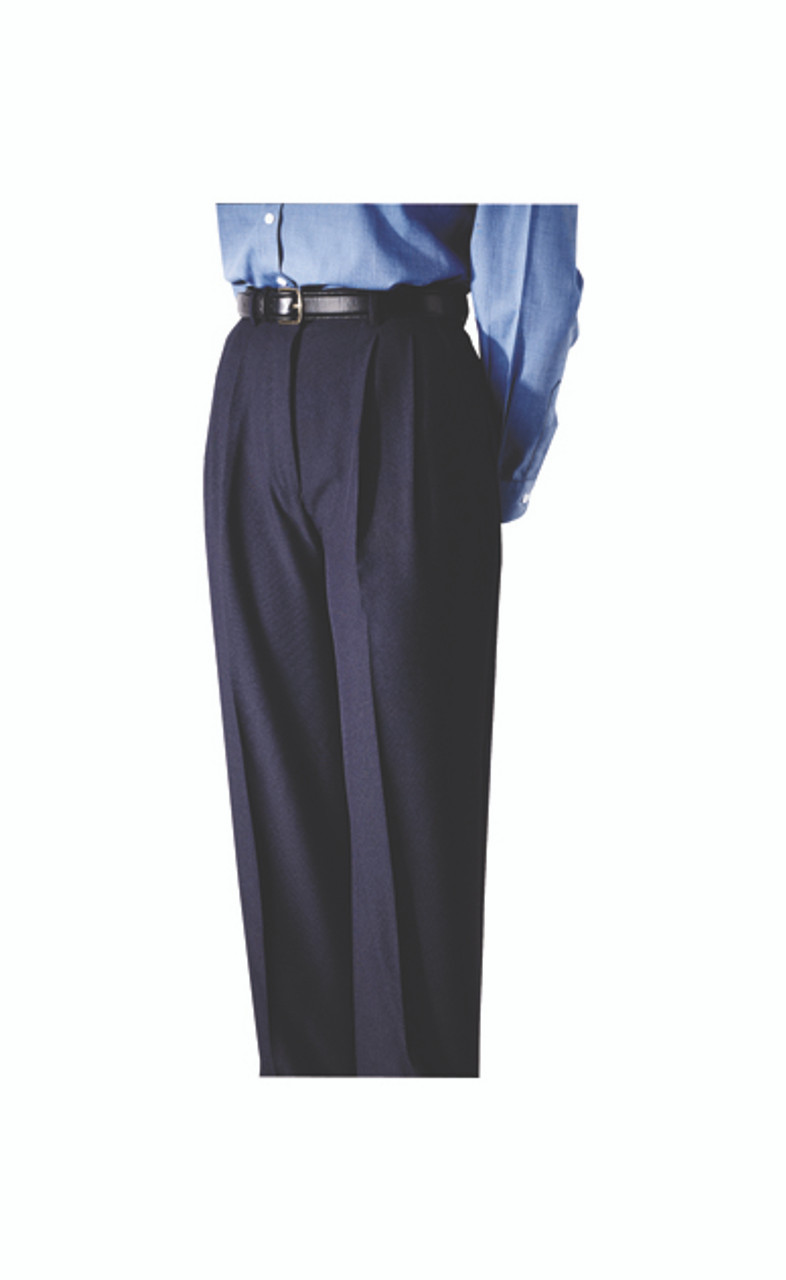 Pleated polyester uniform pants