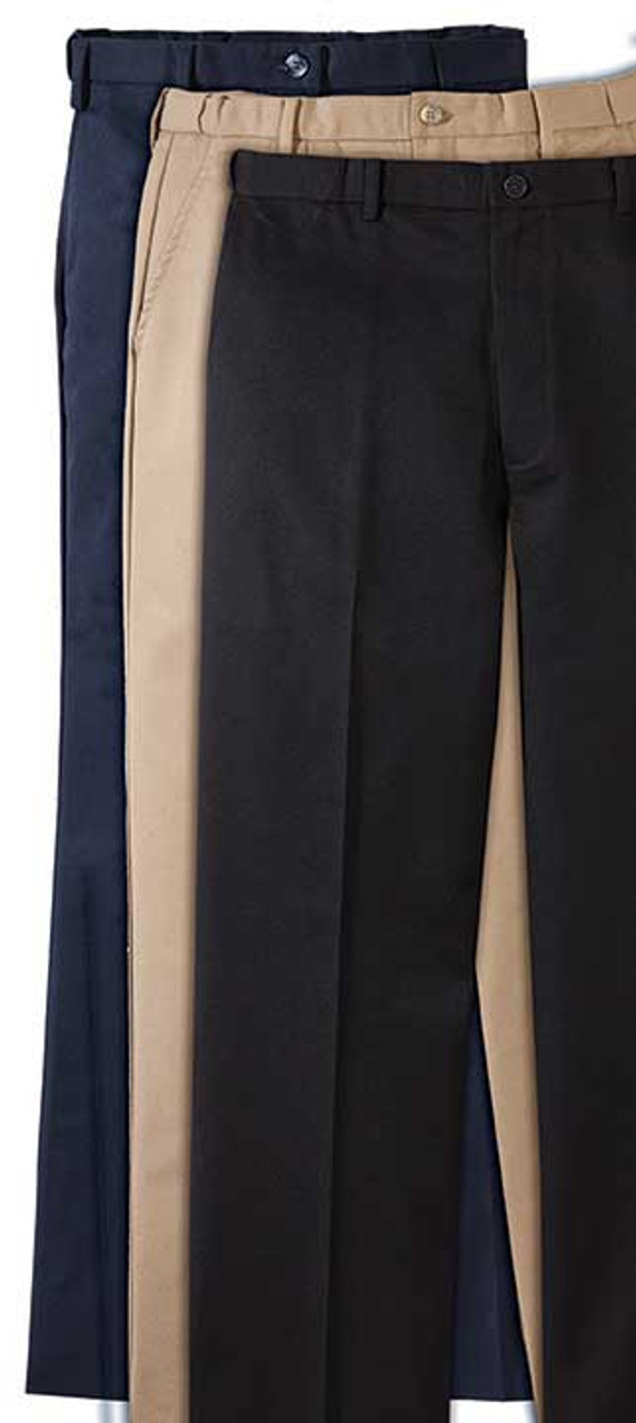Men's Flat Front Easy Fit Chino Pants