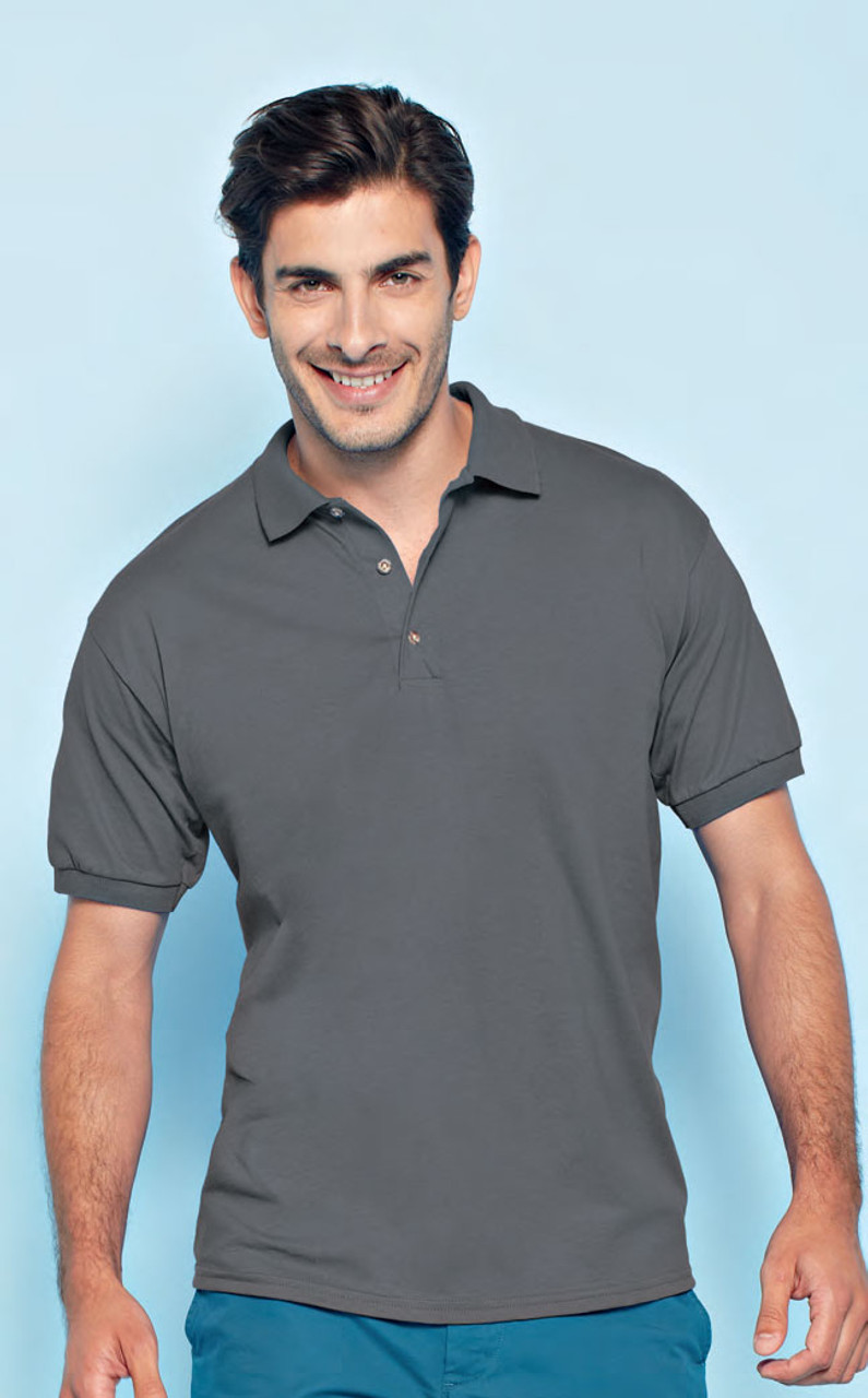 Basic polo made from jersey knit