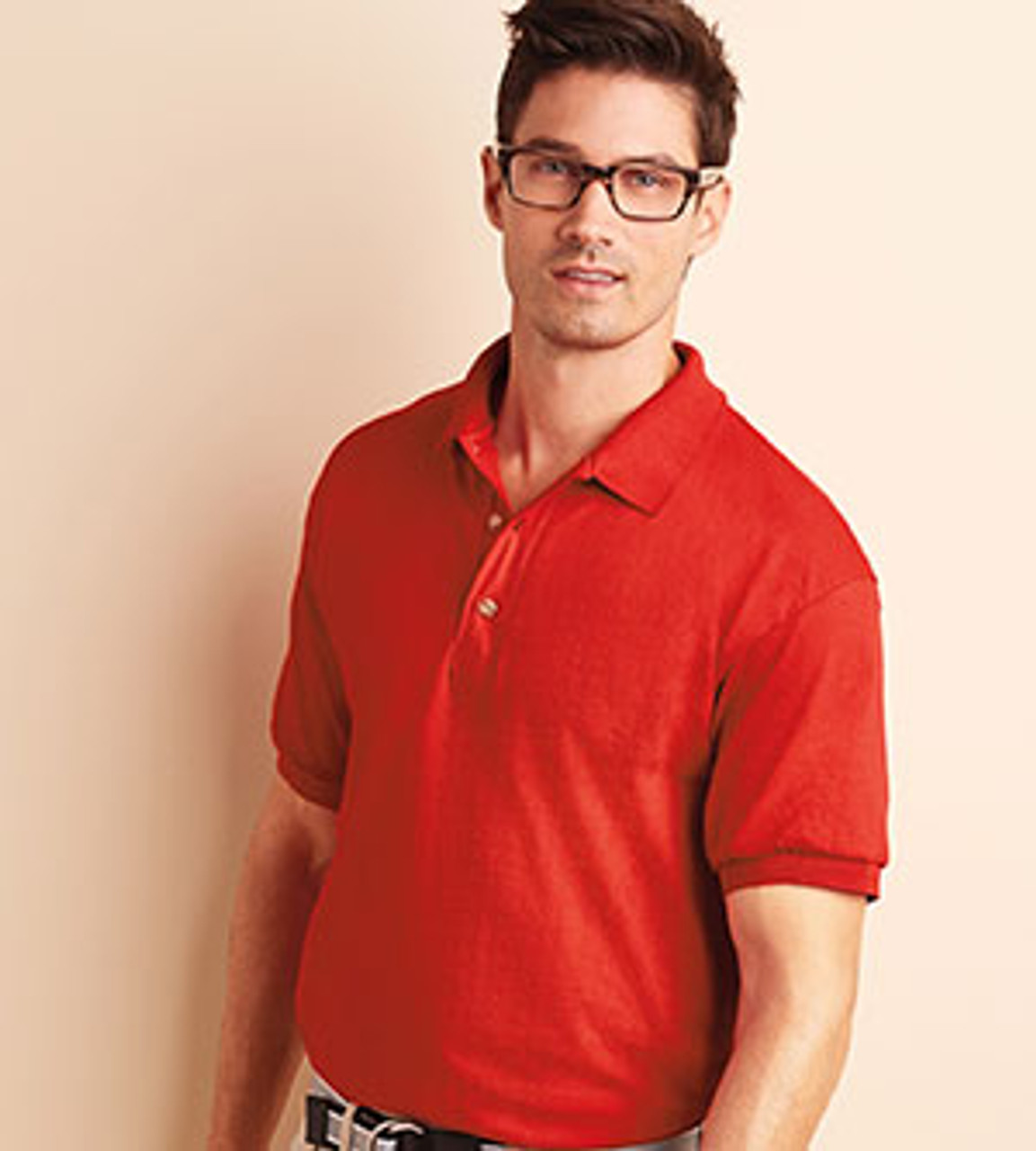 Red Jersey knit sports polo