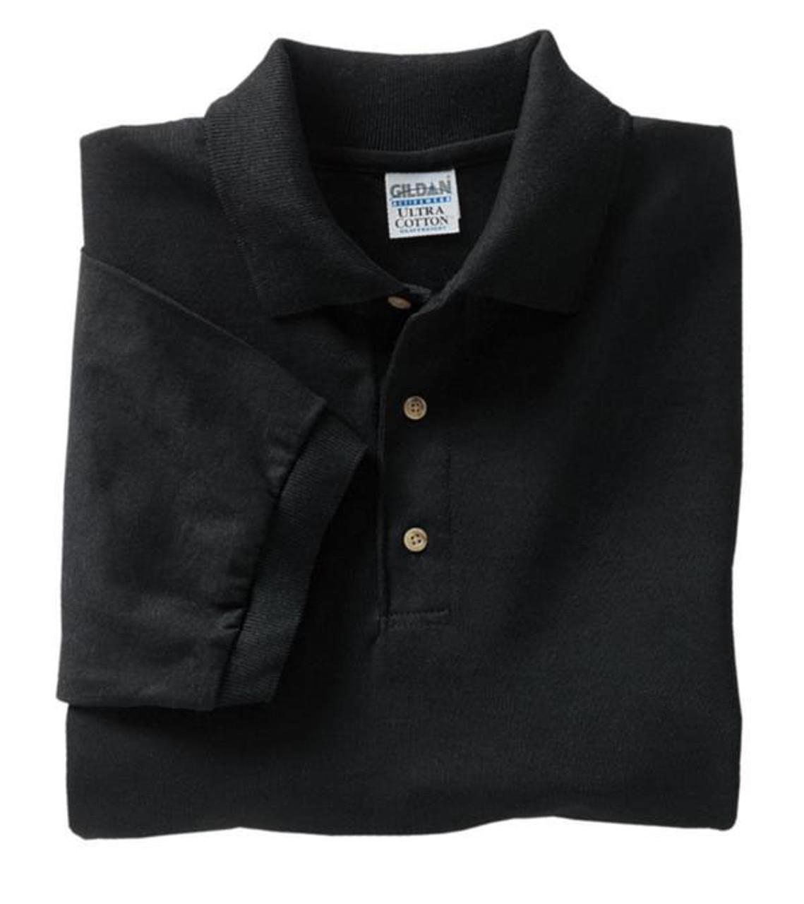 Black Jersey knit sports polo