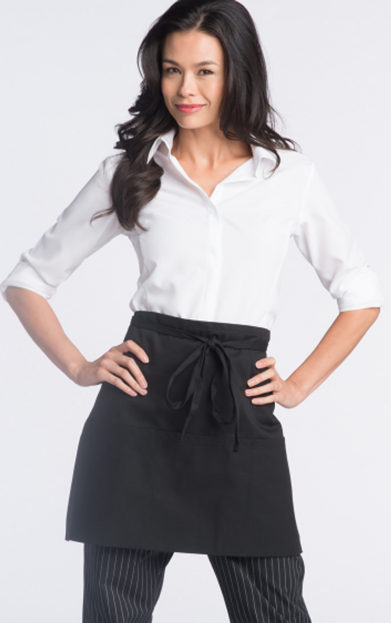 Three Pocket Half Waist Server Apron