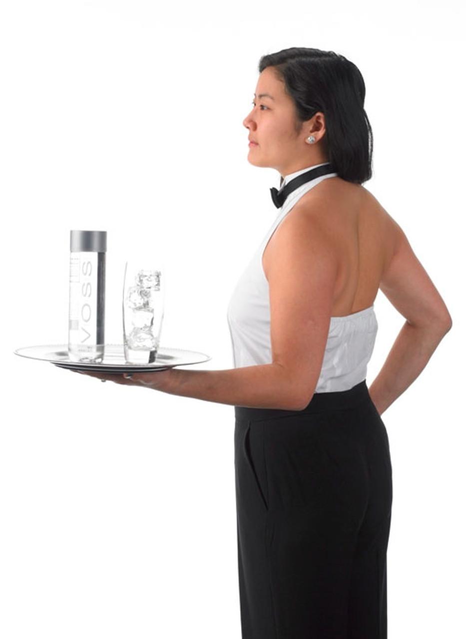 Halter tuxedo shirt for a sexy cocktail waitress look