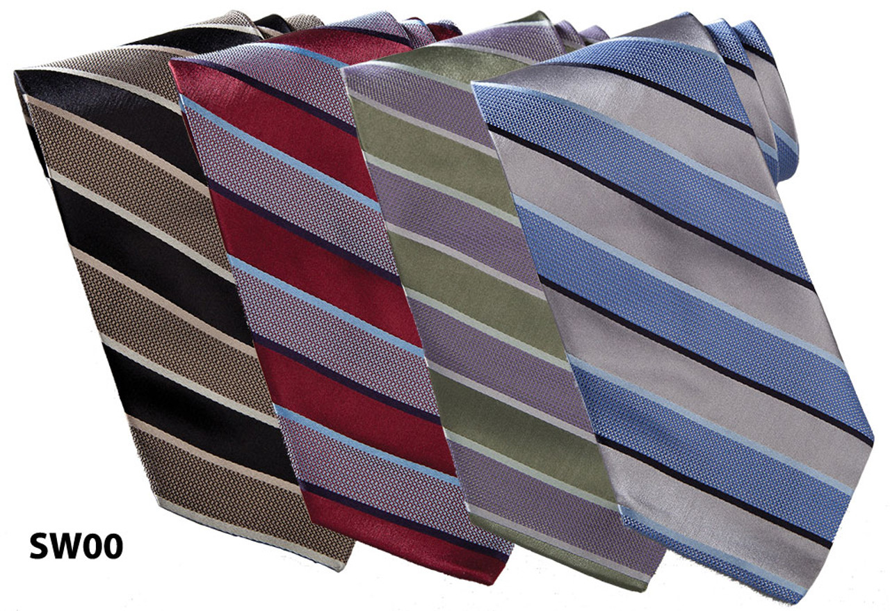 Striped pattern tie