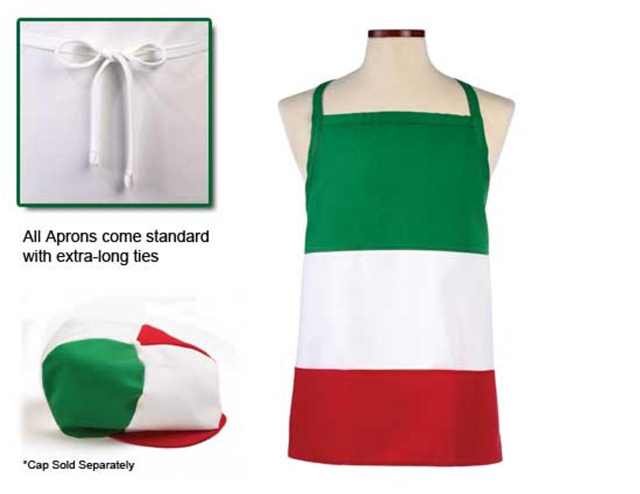 Italian colored bib apron