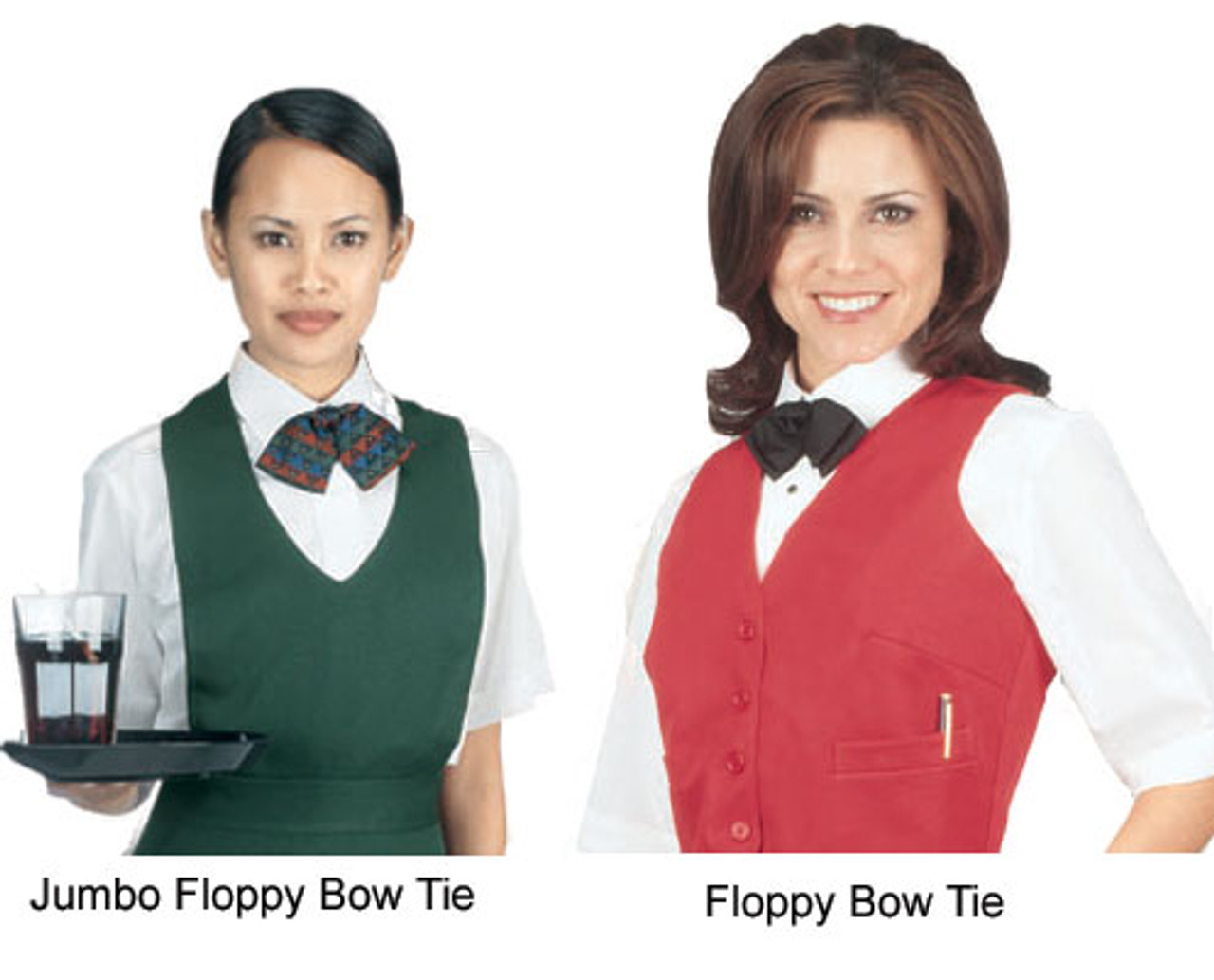 Floppy bow ties in action