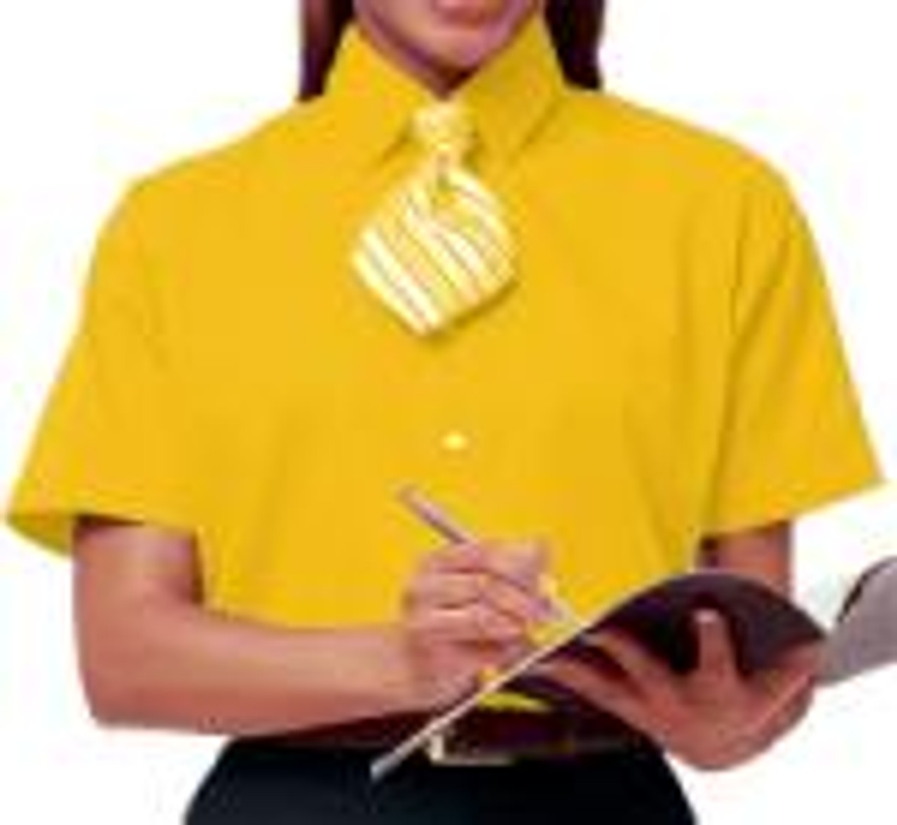 Easy care and stain release uniform poplin for women