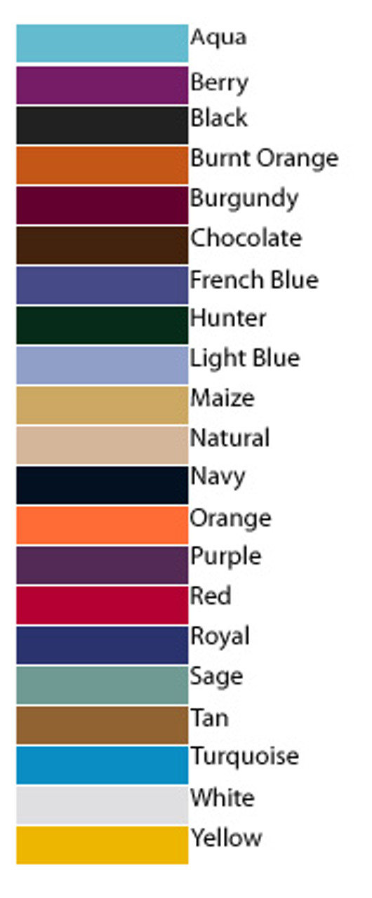 Color chart here!
