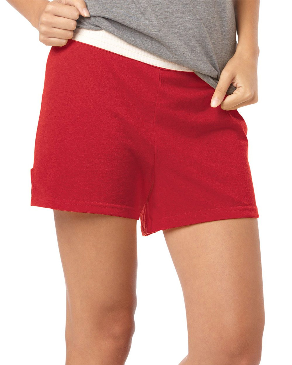 Red Ladies Cheer Shorts