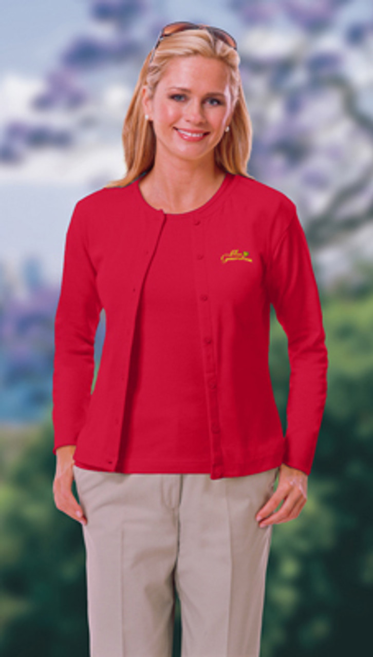 Long sleeved women's uniform cardigan