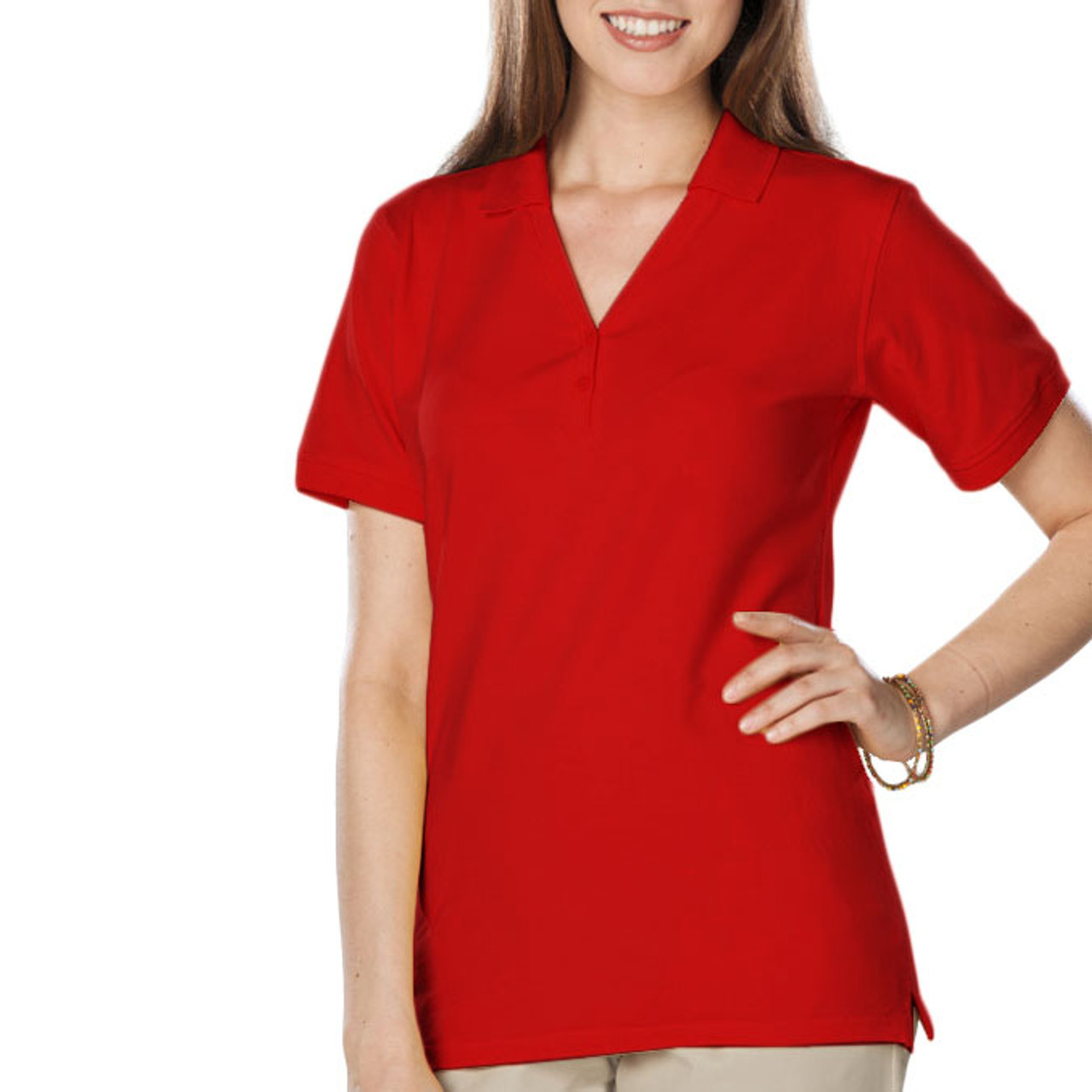 Women's short sleeve uniform polo