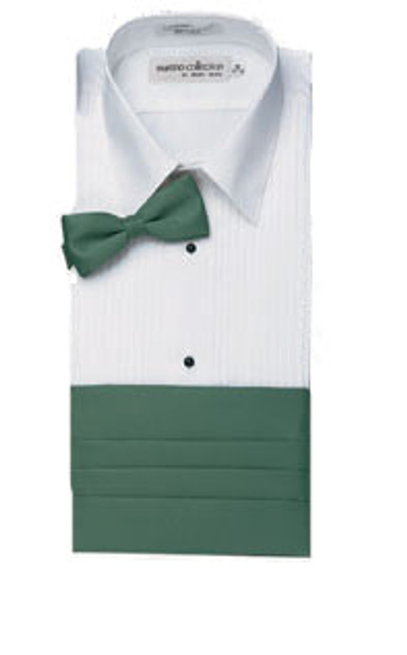 Lay down collar tuxedo shirts can be worn with bow or straight ties