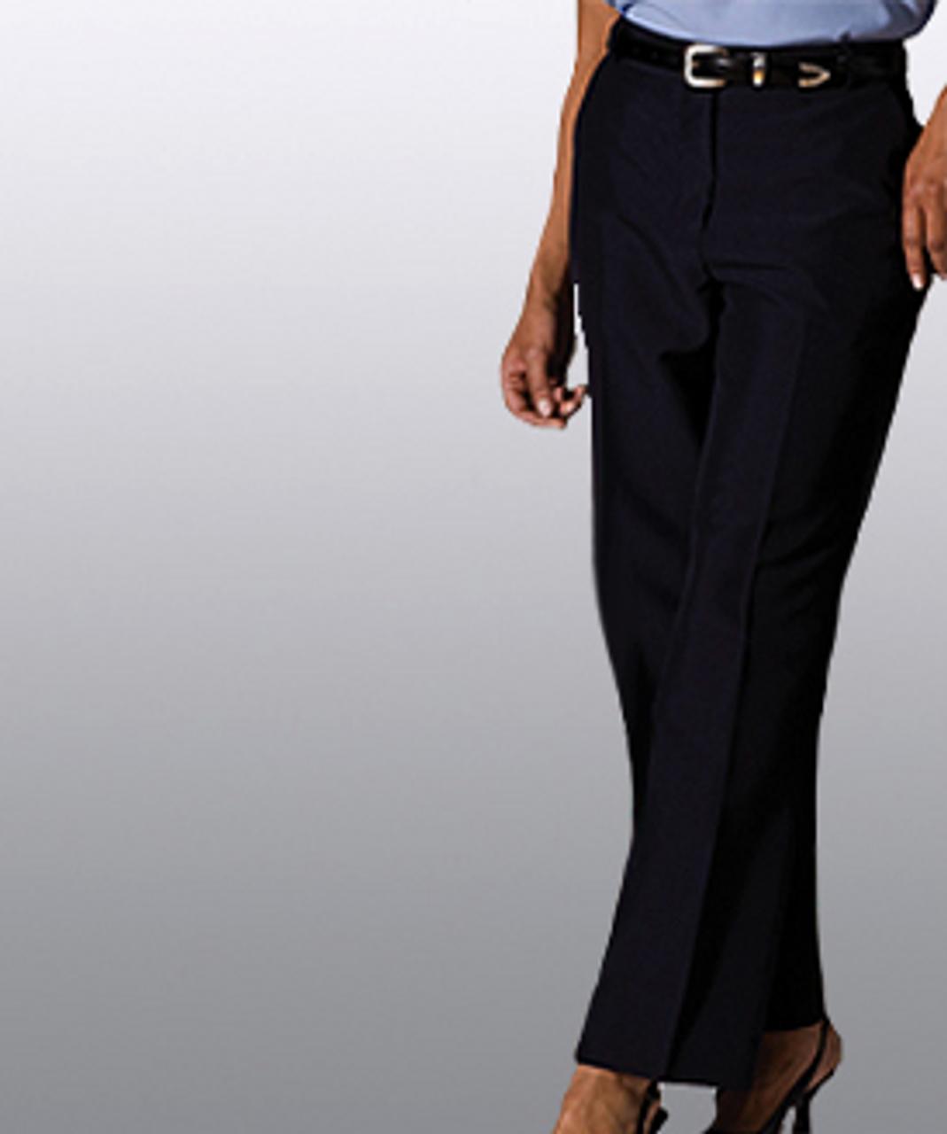 Women's flat front uniform pants