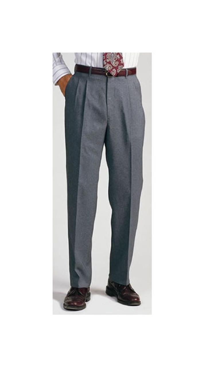 UR Edwards Garment Mens Lightweight Washable Pleated Dress Pant NAVY