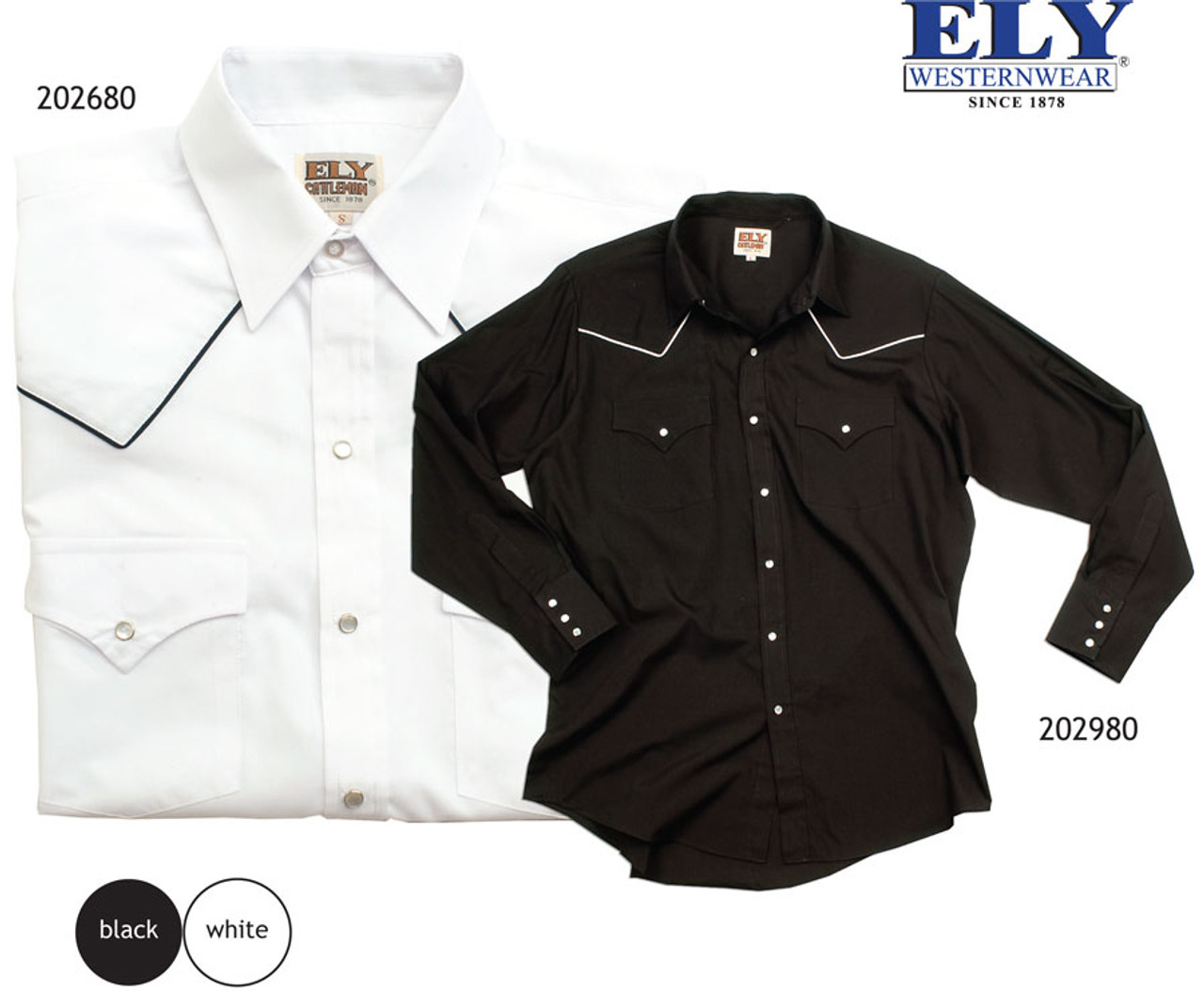 Western style uniform shirt with decorative piping