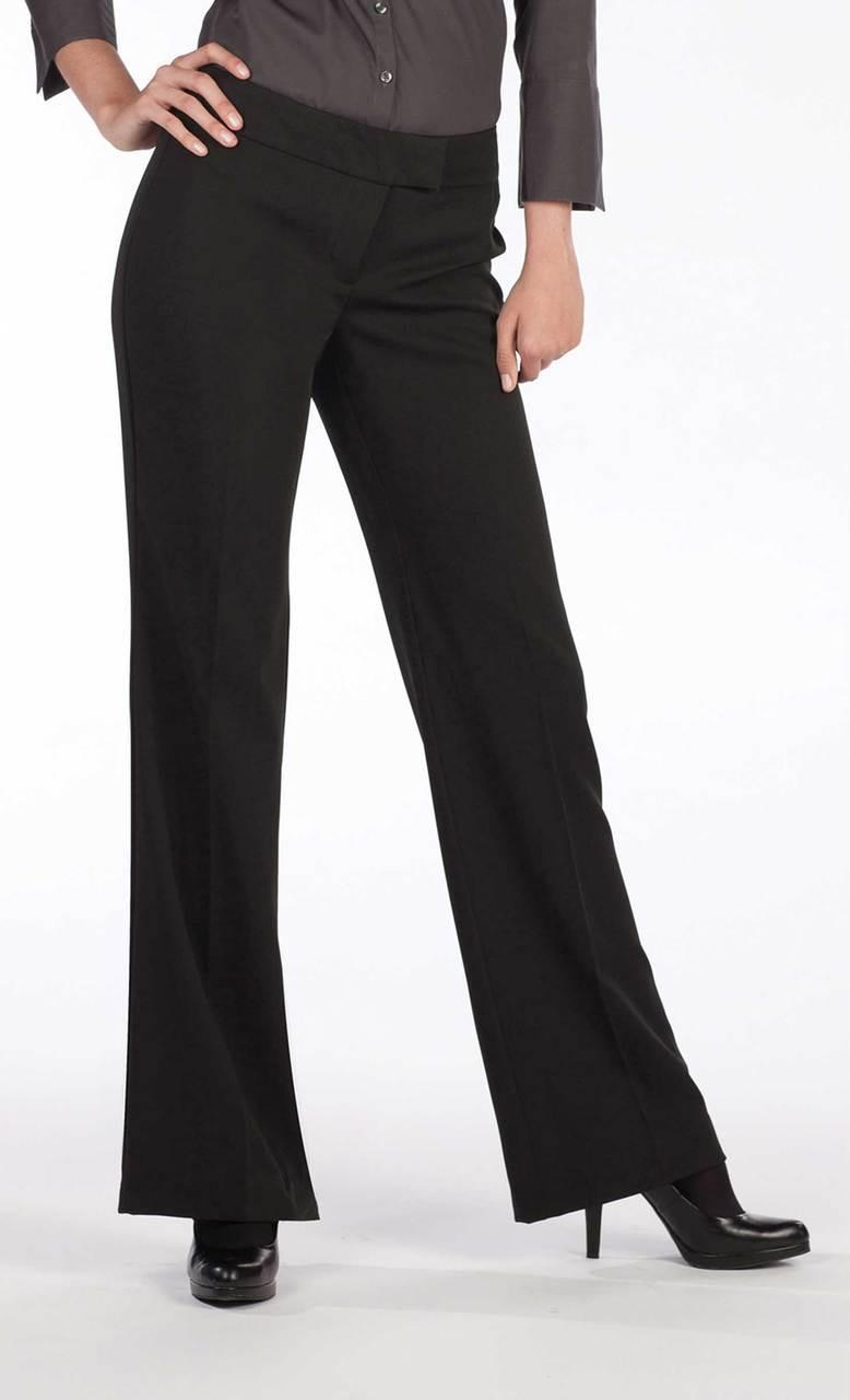 Boot cut uniform pants for women