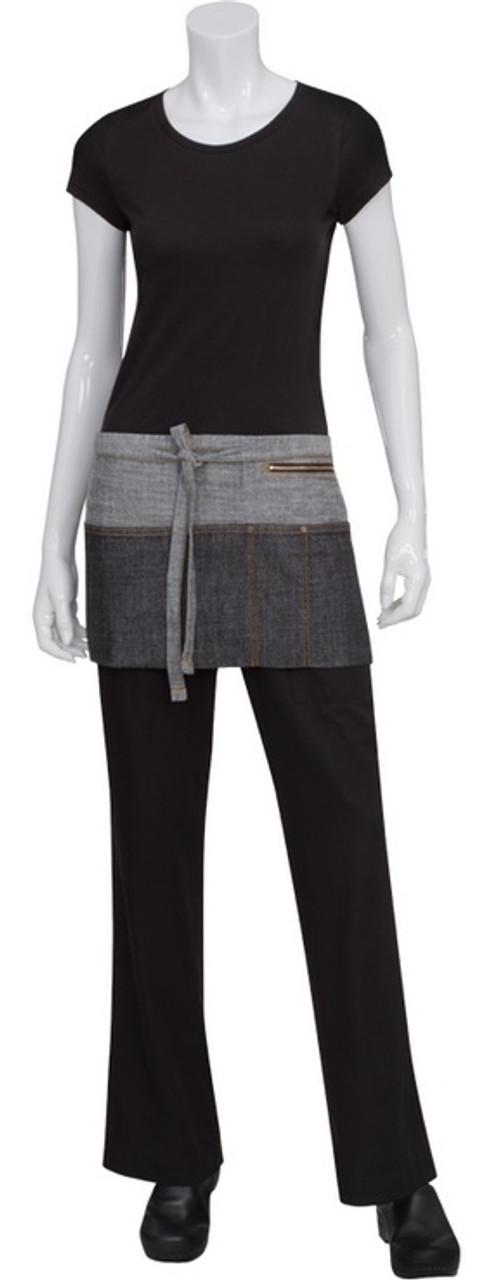 Shorter waist server apron