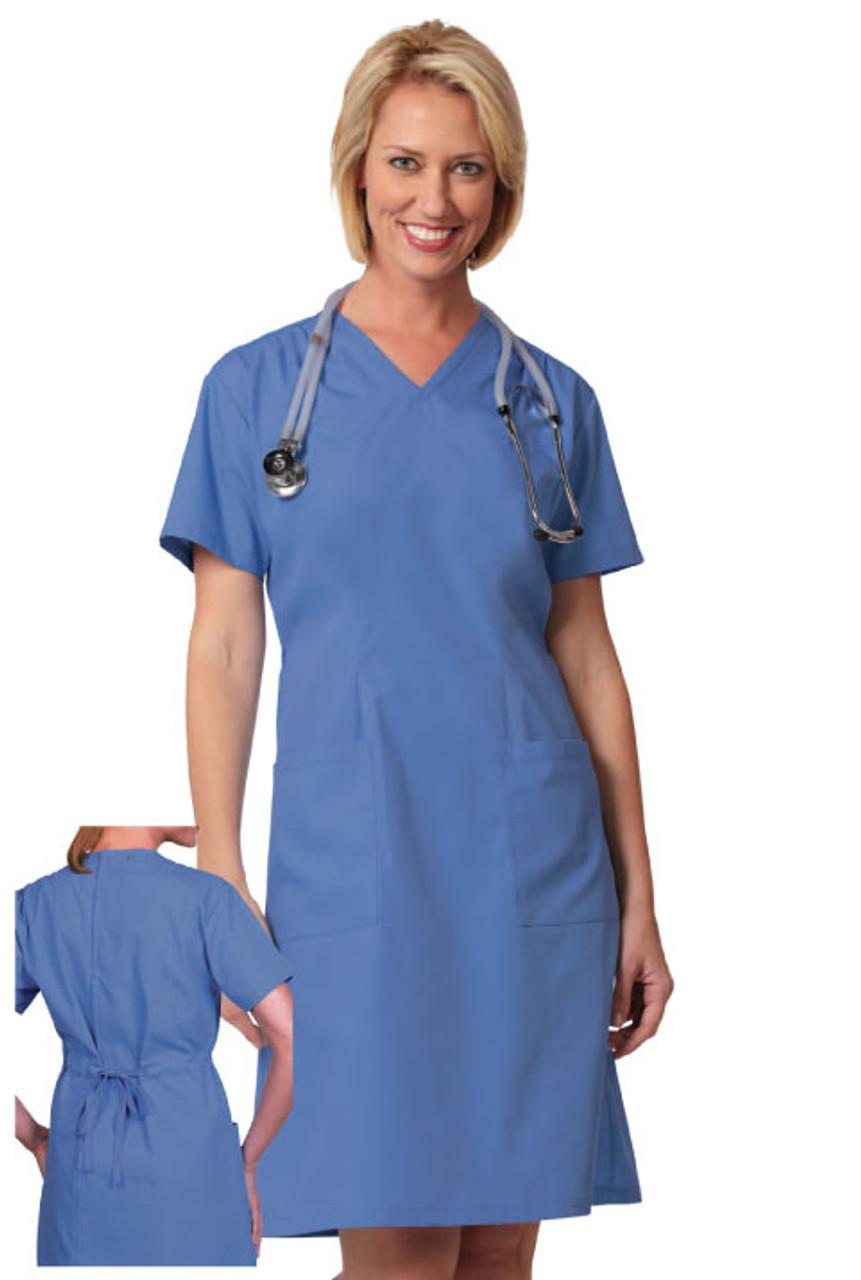 Scrub material dress for nurses