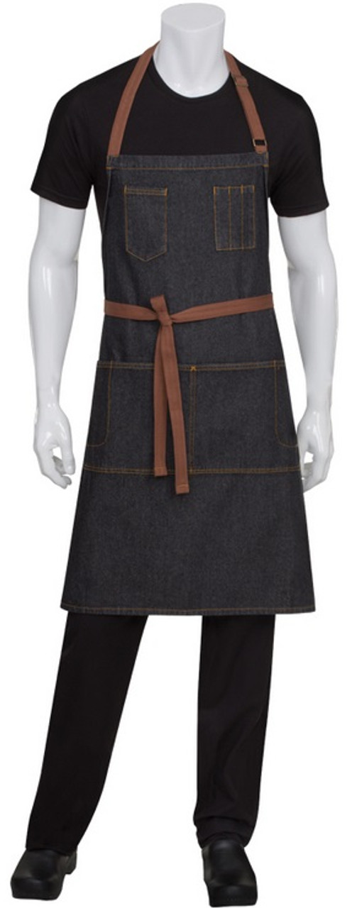 Full bib apron with many pockets