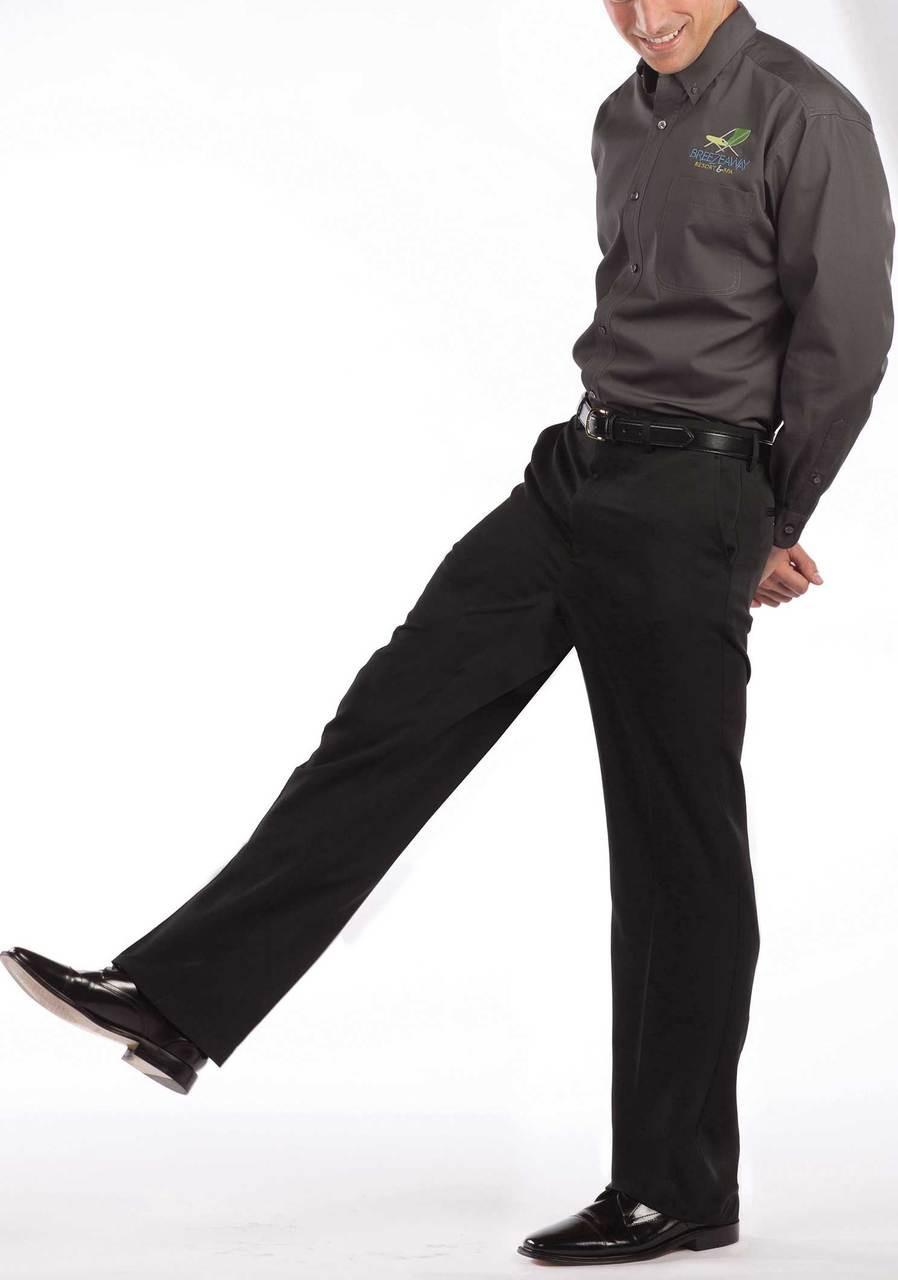 Comfort stretch men's uniform pants