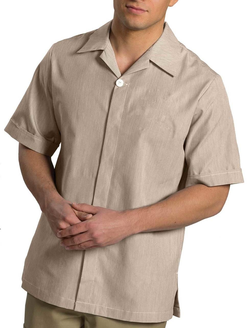 Men's Hidden Placket Tunic CLOSEOUT No Returns