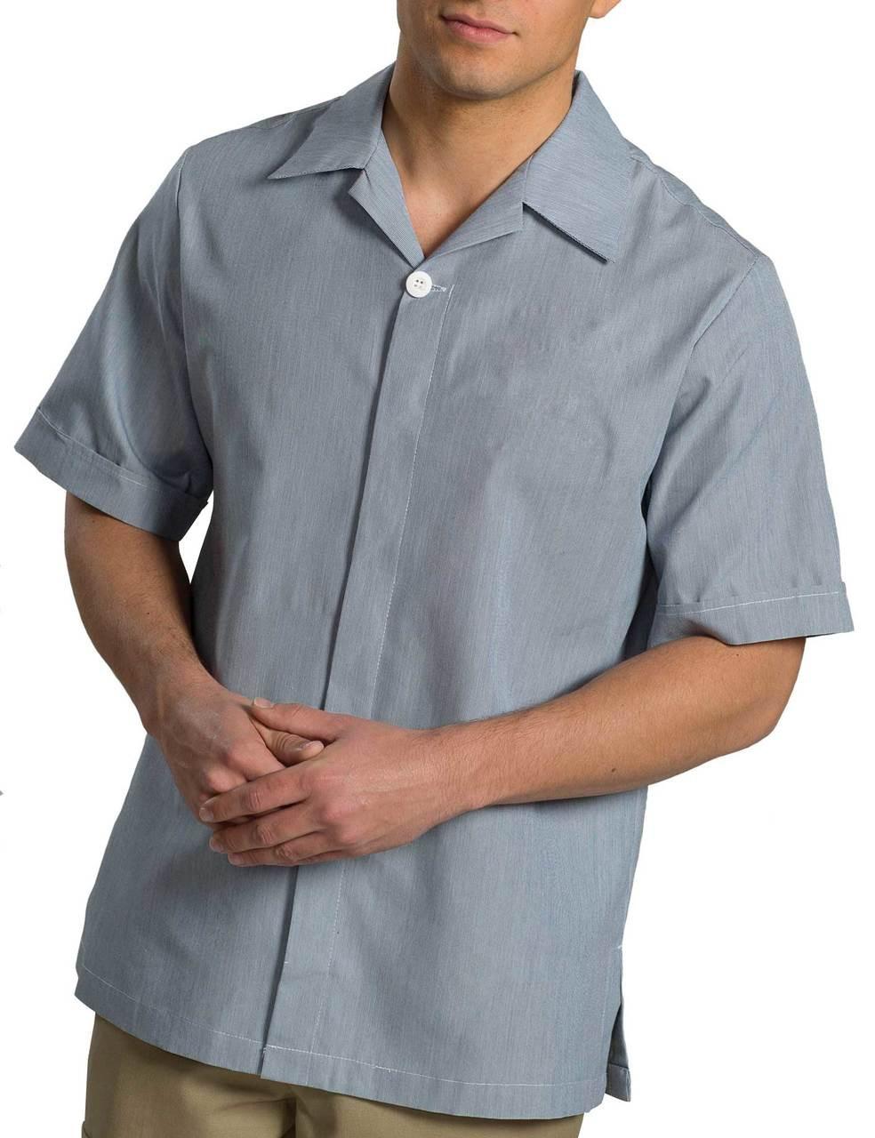 Edwards Garment Men's Pincord Housekeeping Tunic CLOSEOUT No Returns