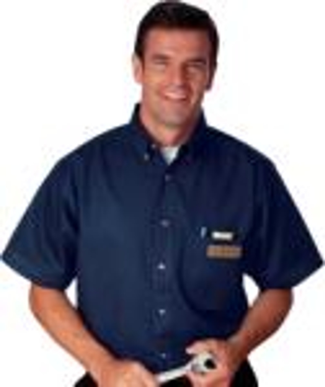 This poplin uniform shirt is stain resistant!