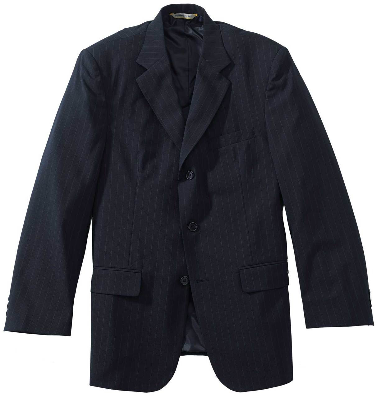 Pinstripe Single Breasted Suit Coat CLOSEOUT No Returns