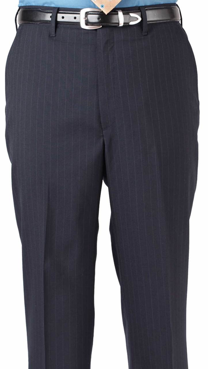 Cool pinstripe work pants for him!