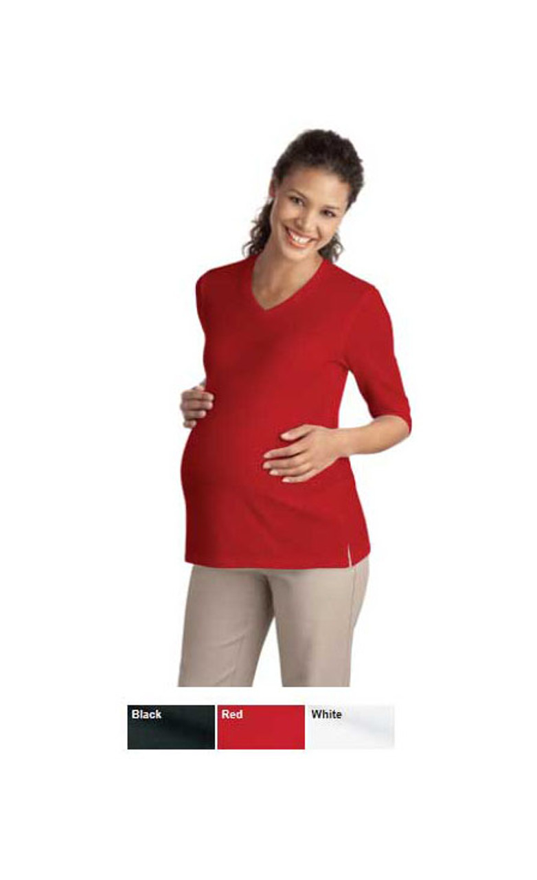 Made with ladies stretch cotton for comfort while pregnant