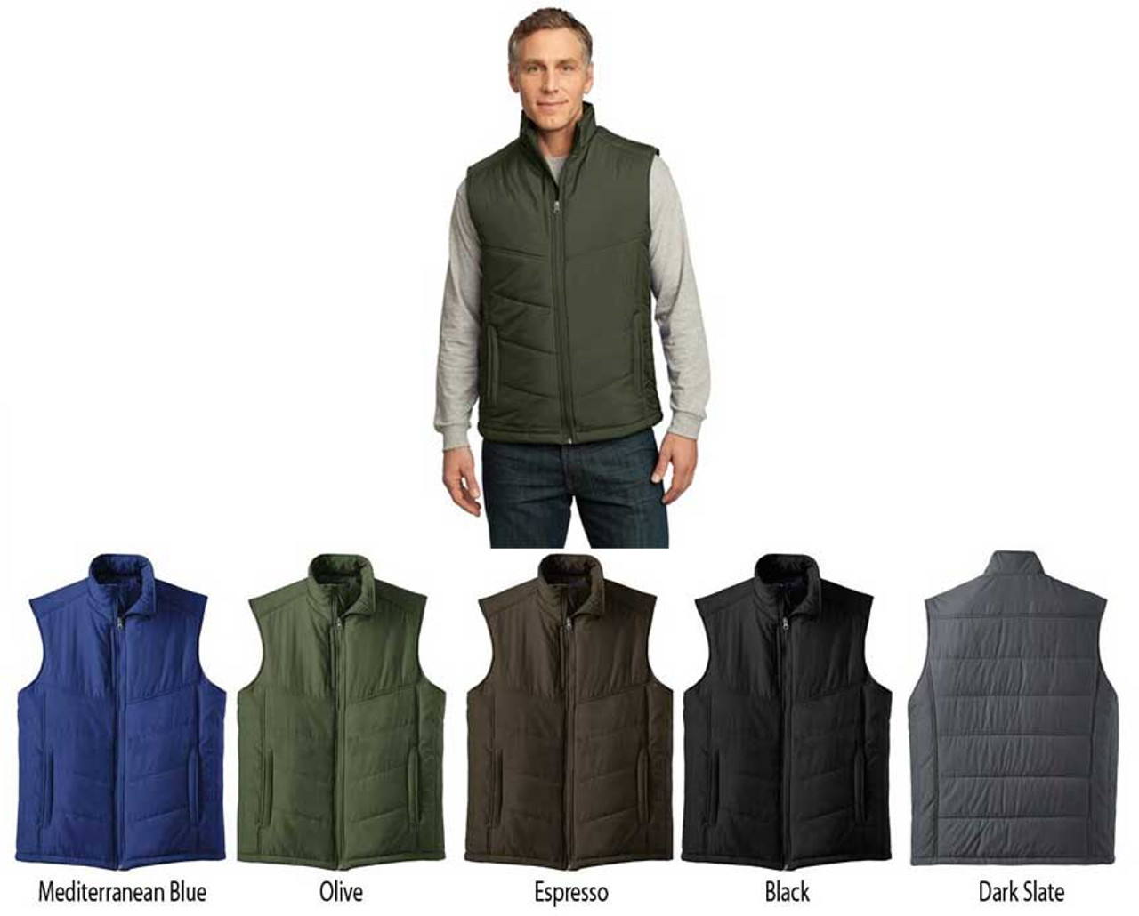 This uniform vest is great for outdoors staff!