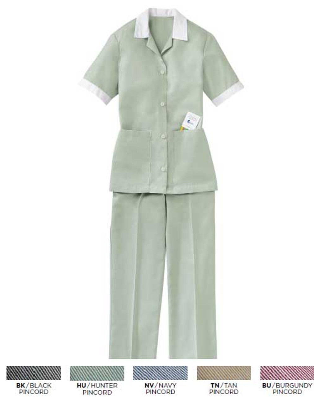 Pincord housekeeping pants to accompany out pincord housekeeping shirt.