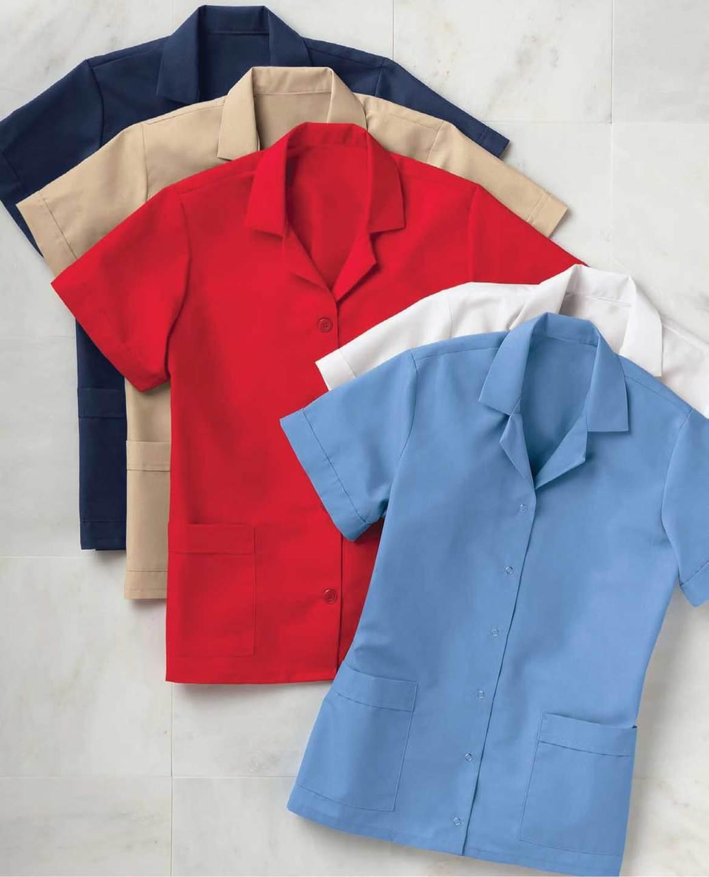 Short sleeved housekeeping tunic