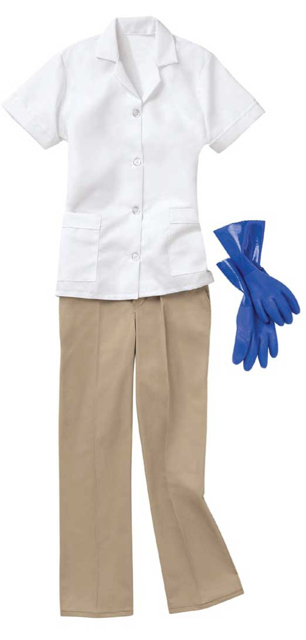White housekeeping tunic by Red Kap