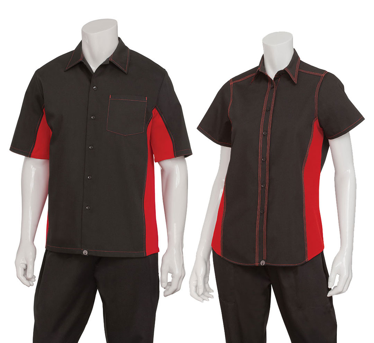 Men and women sizes with red