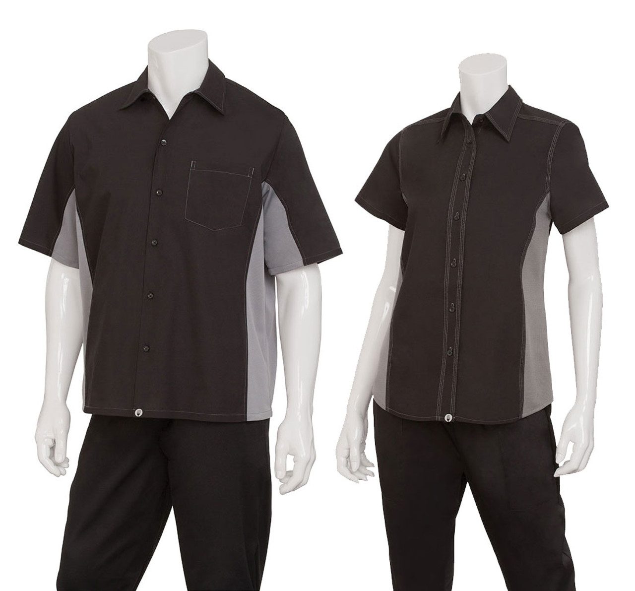 Men and women sizes for this uniform shirt