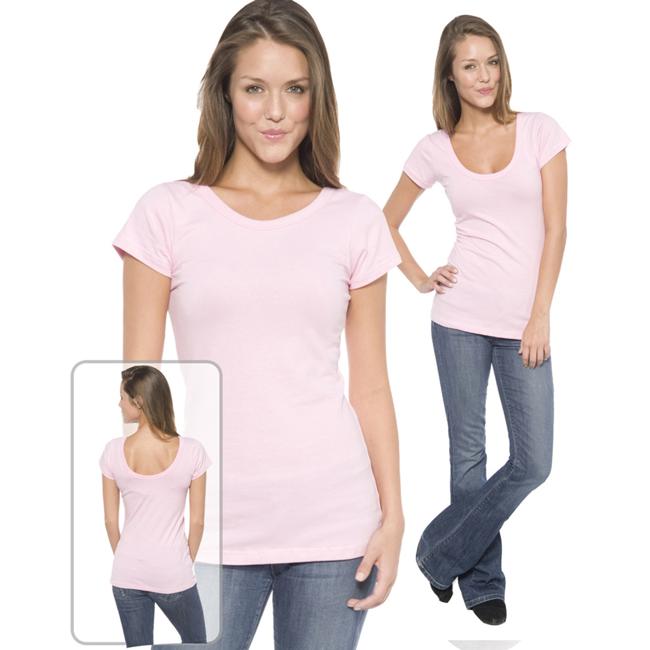 Wear this shirt with a scoop in the front or back