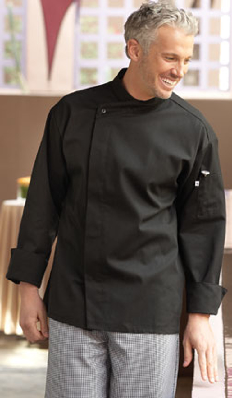 Black basic chef coat