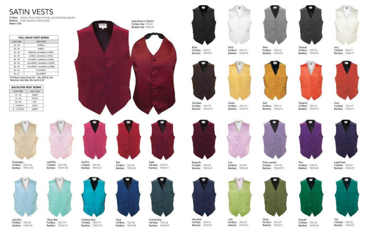 Full Backed satin vest