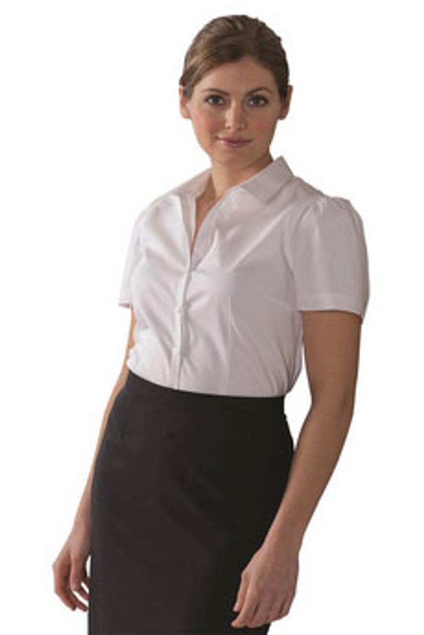 White short sleeve stretch blouse