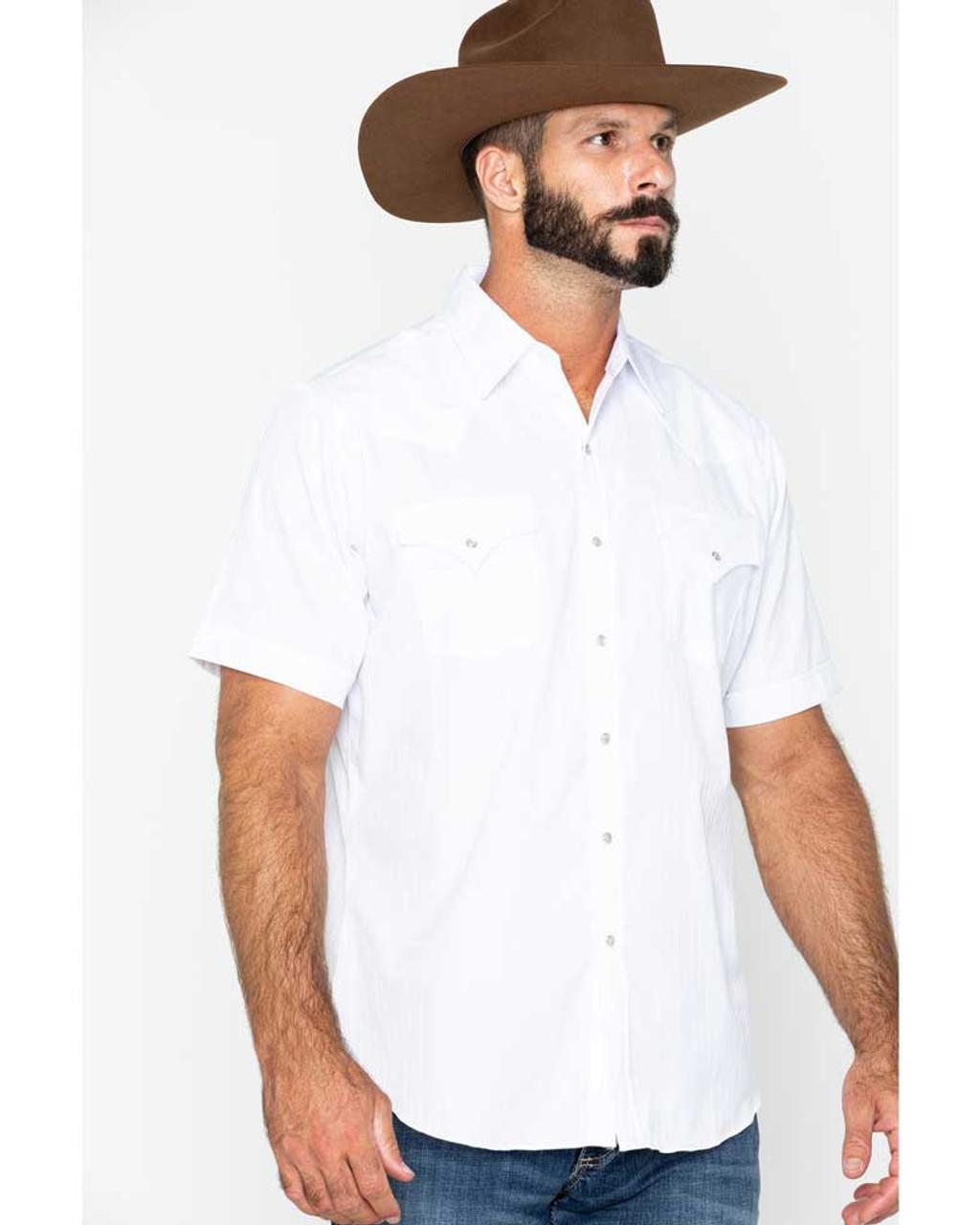 Short Sleeve Tone on Tone Western Shirt