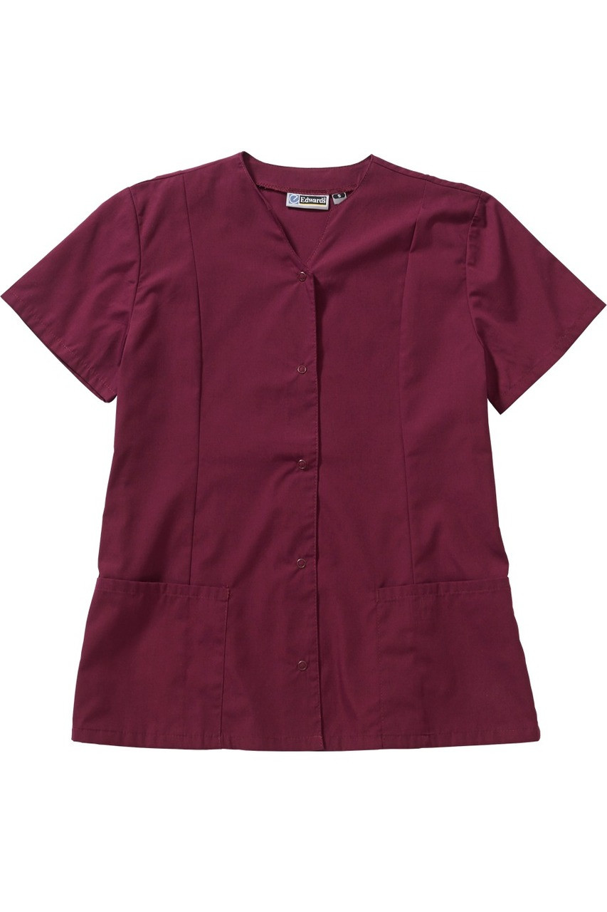 Cabernet snap front tunic