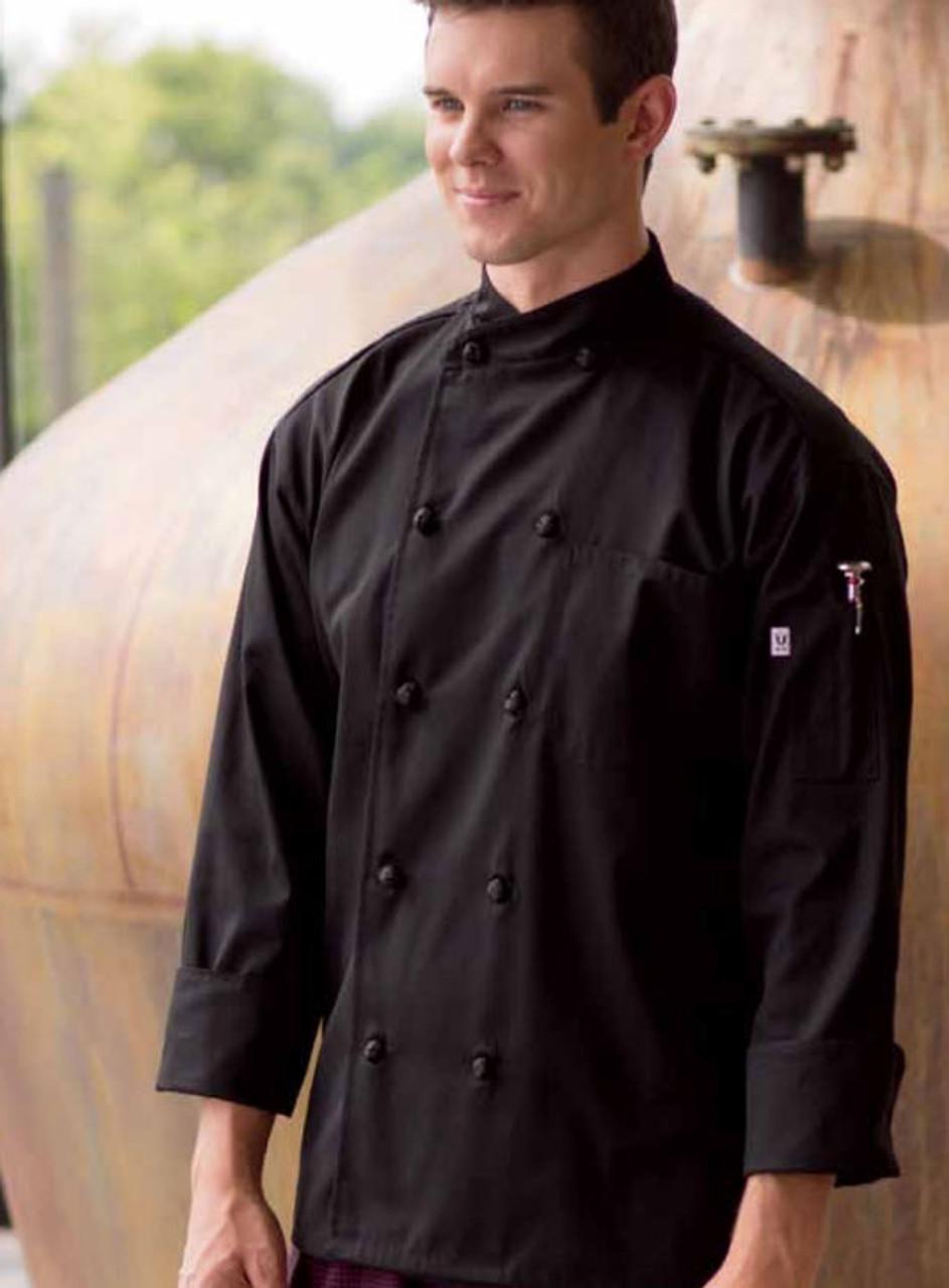 Black soho chef coat