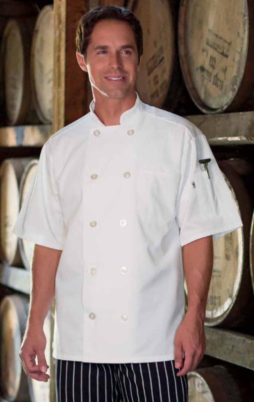Short sleeved chef coat