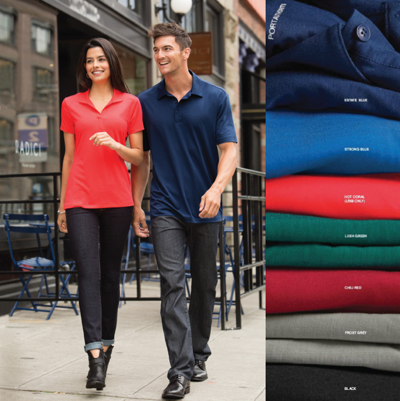 Stay active and comfortable in this polo spandex shirt!