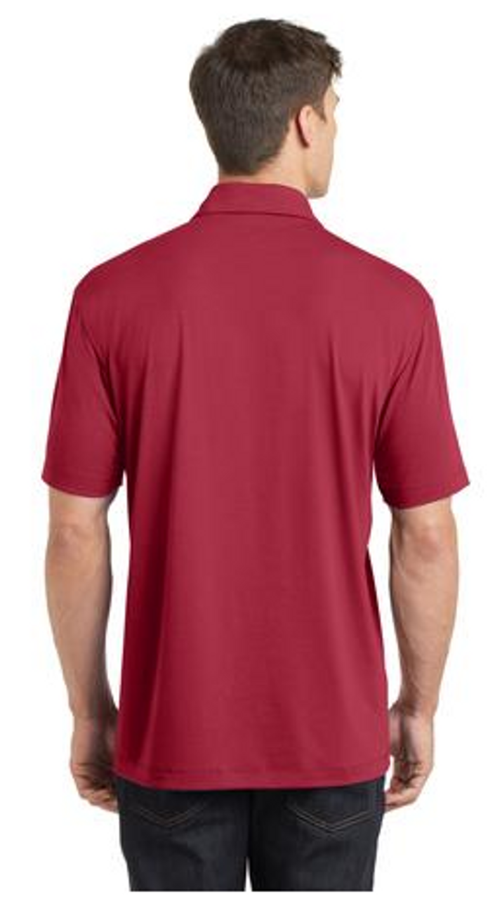 Chili Red stretch spandex polo shirt