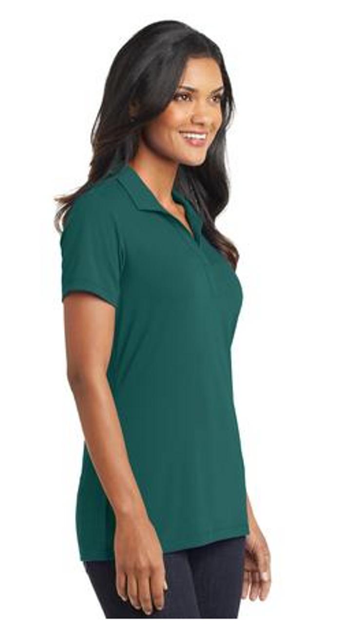 Lush Green stretch spandex polo shirt