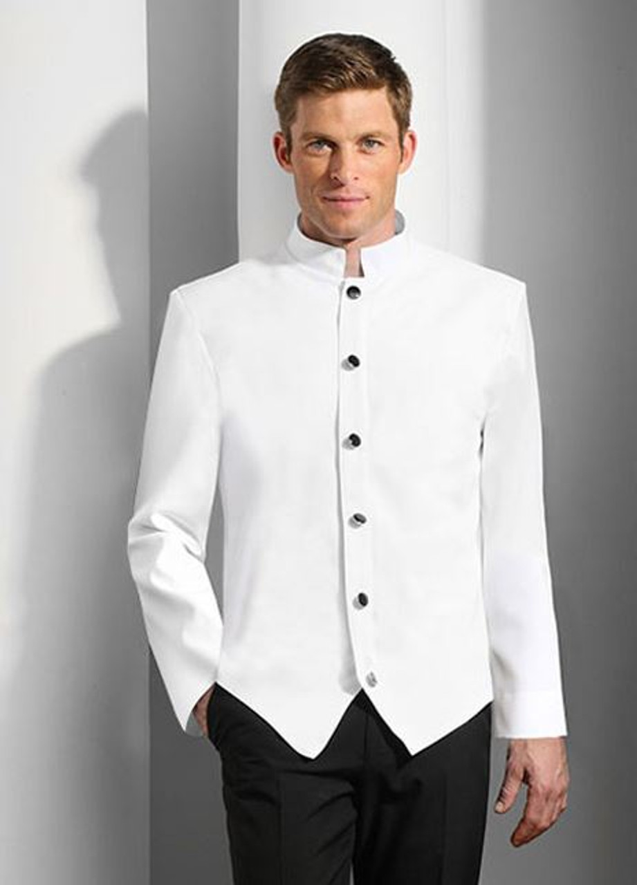 White steward jacket