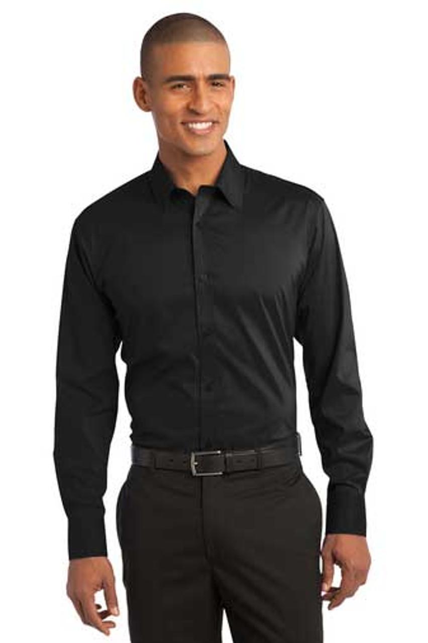 Stretch Poplin Wait Staff Uniform Shirt