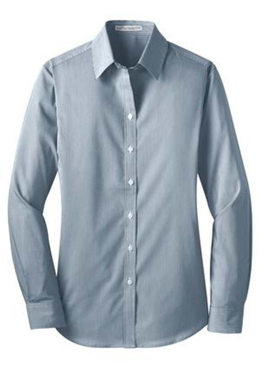 Moonlight blue/ white poplin shirt